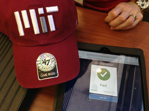 The MIT COOP is the first major university bookstore to accept bitcoin payments. Photo: Dan Elitzer