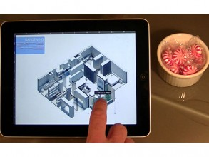 Tablet interface showing the process of refining a personalized design assembled using a matching algorithm. Image: Kent Larson