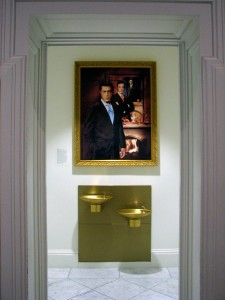 This portrait of comedian Stephen Colbert was displayed at the Smithsonian Institution's National Portrait Gallery in Washington for six weeks in 2008. Image: alykat/Flickr