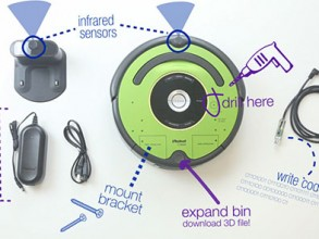 The iRobot Create 2 provides educators, students, and developers with the tools to learn the fundamentals of robotics. Image: Screenshot/iRobot.com