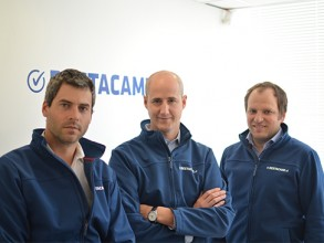 Destácame co-founders Augusto Ruiz-Tagle, Sebastián Ugarte, and Jorge Camus. Image: Courtesy MIT Sloan