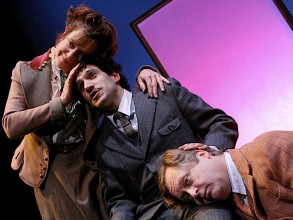 Debra Wise, Robert Najarian, and Steven Barkhimer in the 2007 CC@MIT production of Alan Lightman's Einstein's Dreams. Photo: Elizabeth Stewart/Libberding Photography