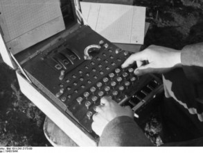 Enigma machine used during World War II