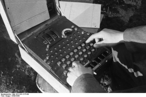 Enigma machine used during World War II