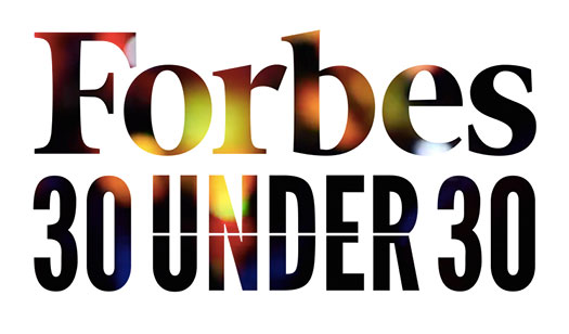 Forbes 30 under 30 screenshot