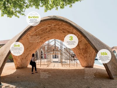A prototype of the Droneport was debuted in Venice at the 2016 Architecture Biennale. Click to see full-size. Photo: Nigel Young and the Norman Foster Foundation