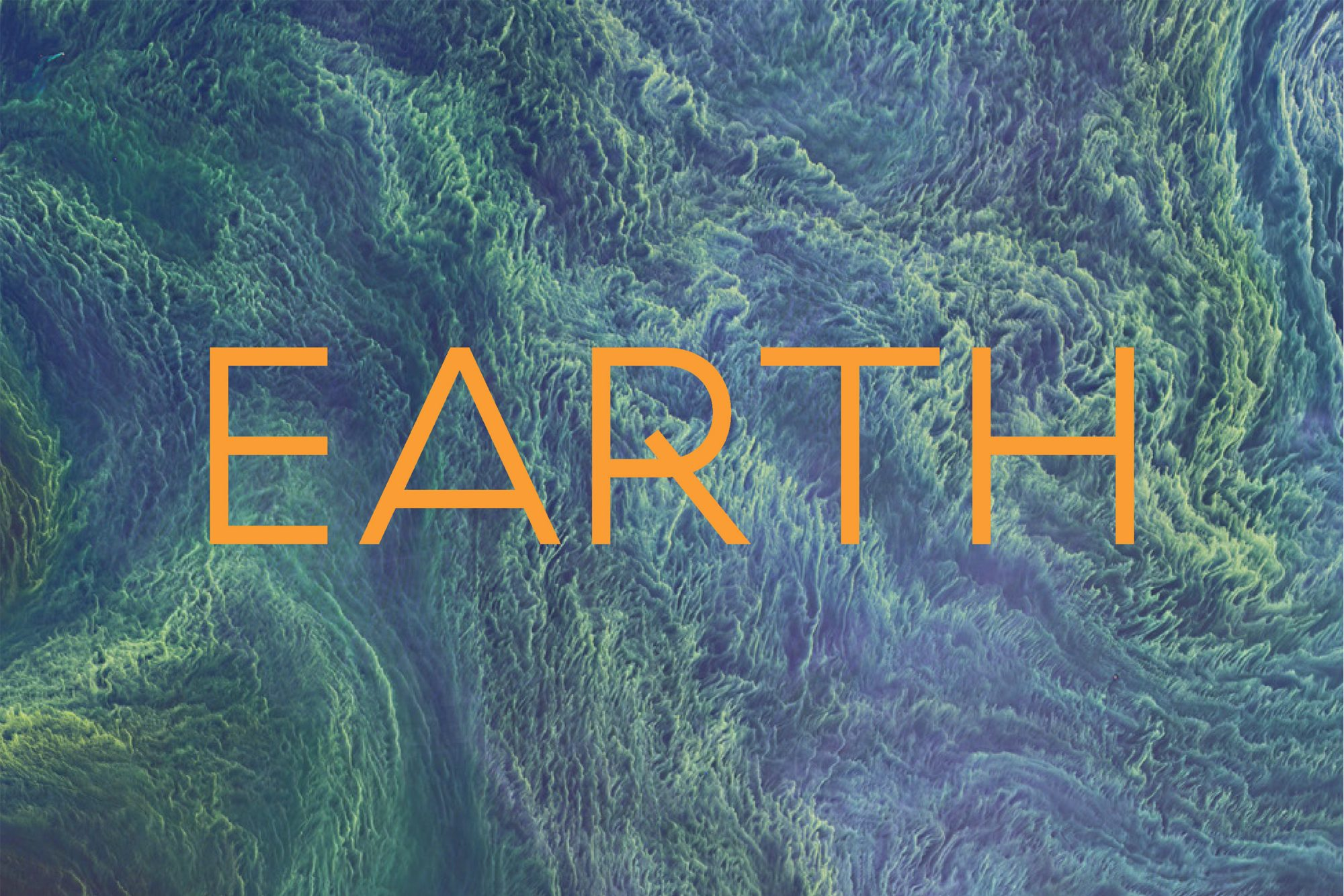 illustration representing Earth, with the word Earth overlaid