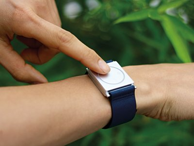 Empatica's Embrace wristband has begun clinical trials for use in monitoring epilepsy. Photo: Courtesy of Empatica