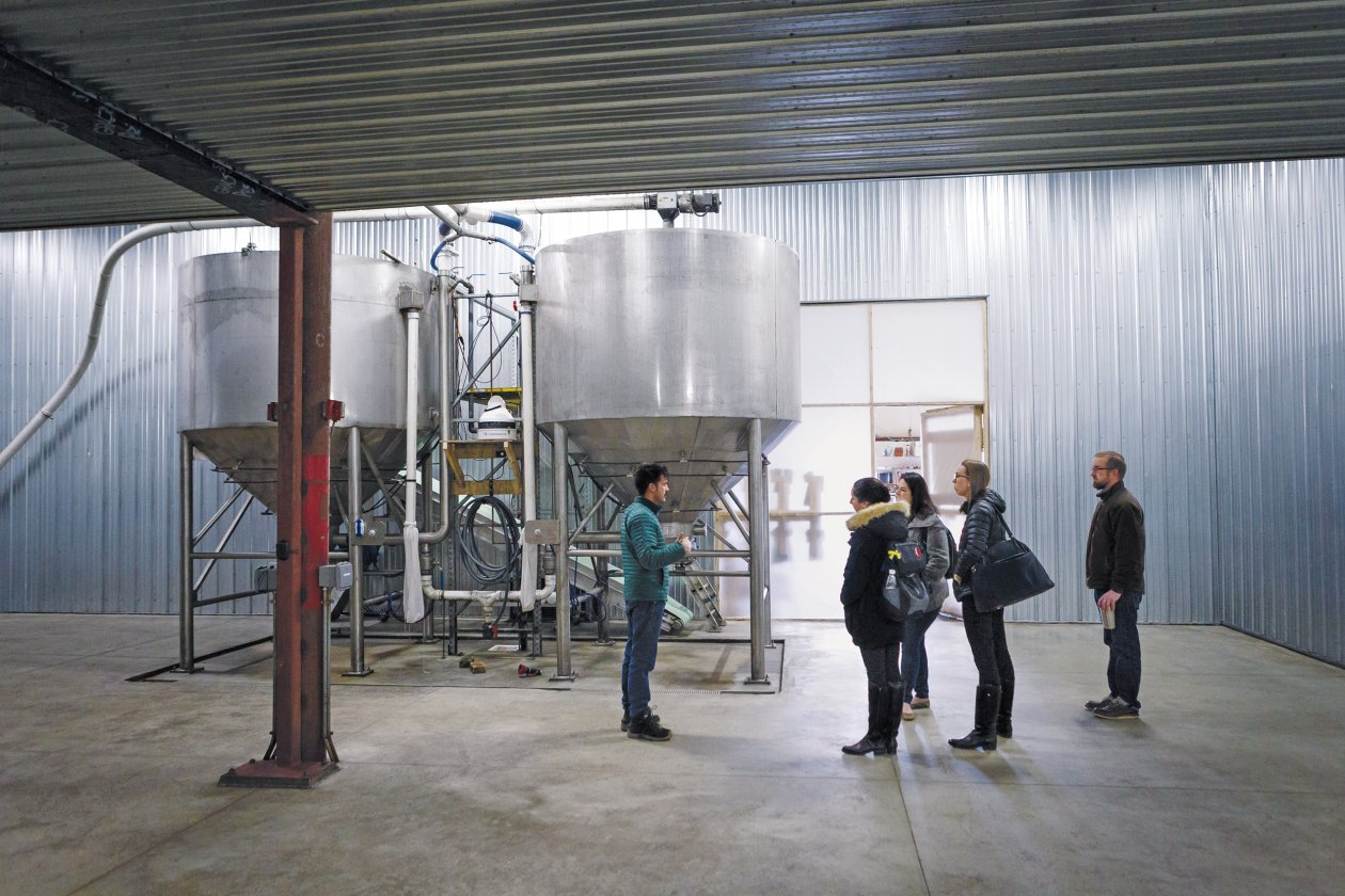 A group of USA Lab students spent two weeks in Maine learning about the state's agricultural sector, with visits to sites including the Blue Ox Malthouse (pictured) in Lisbon Falls. Photo: Bearwalk Cinema