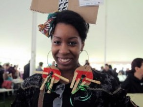 An attendee at MIT's first-ever Maker Faire. Photo: MIT News / Josh Ramos