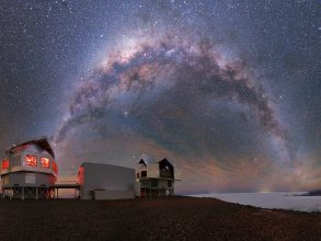Anna Frebel studies stars residing of the Milky Way, visible here above Chile's Las Campanas Observatory. Photo: Yuri Beletsky
