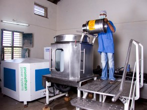 Promethean Power System's rapid milk chiller. Image: Lemelson.org
