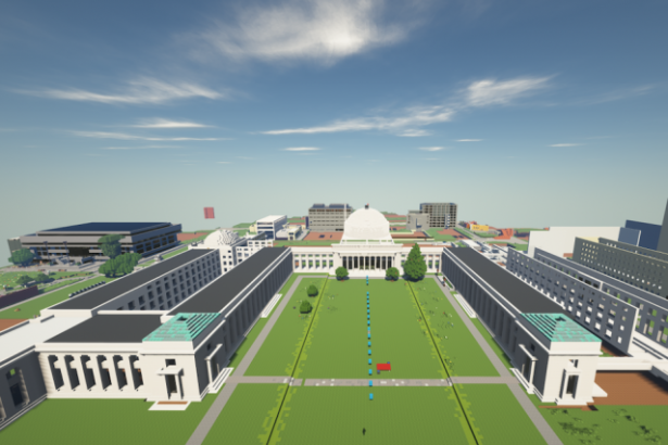 MIT students collectively constructed a 1:1 scale replica of Minecraft.