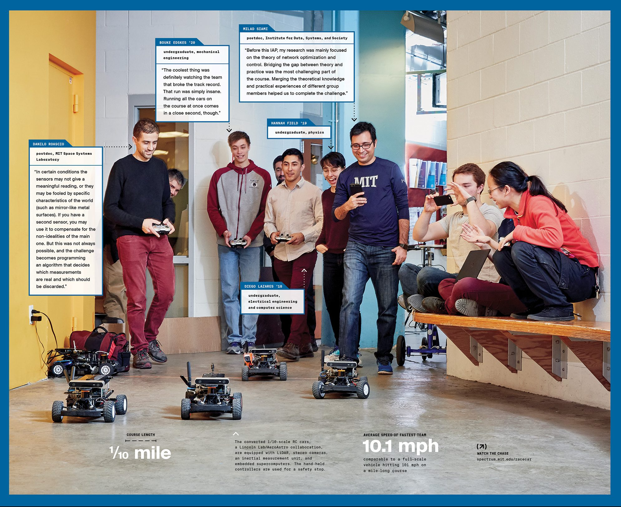 photo of students with their race cars. Photo: Ken Richardson