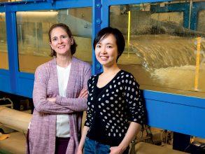 Heidi Nepf, left, and Judy Qingjun Yang SM '15. Photo: Sarah Bastille