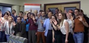 George Takei has some fun during his visit to MIT. Photo: Screenshot/Youtube