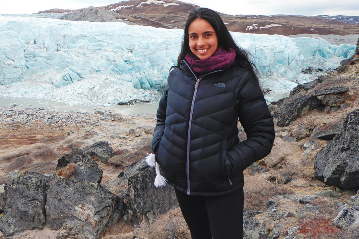 Ranganathan spent a week in Kangerlussuaq, Greenland, in 2016 as an undergraduate studying environmental science. Photo: Courtesy of Meghana Ranganathan