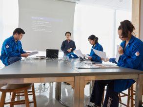 Students participate in a URIECA class