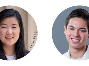 Erin Hong '17, left, and Aaron Zalewski '17